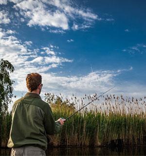 La pêche au camping du Lidon
