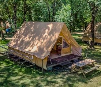 camping location cabane bois morbihan