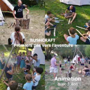 Animation Bushcaft camping le lidon
